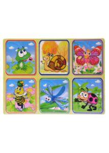 Fa puzzle - békás 6 db-os