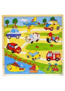 Fa puzzle - járműves 100 db-os