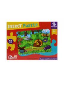 Puzzle, 45 db-os, rovarok