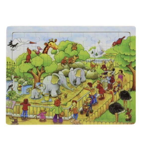 Fa puzzle - elefánt az állatkertben